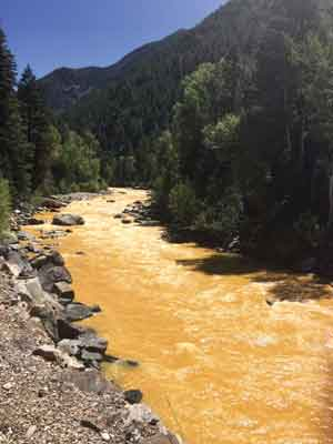 ON AUGUST 5, 2015, AN ENVIRONMENTAL PROTECTION AGENCY TEAM CONDUCTING A CLEANUP PROJECT AT THE ABANDONED GOLD KING MINE IN COLORADO ACCIDENTLY CAUSED A SPILL OF MORE THAN THREE MILLION GALLONS OF UNTREATED WASTEWATER AND TOXINS INTO THE ANIMAS RIVER.