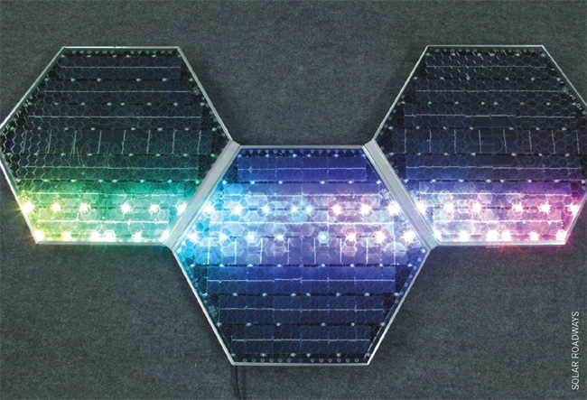 SOLAR ROADWAYS' PANELS