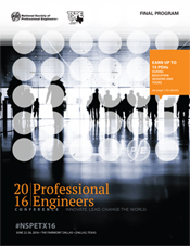 2016 Professional Engineers Conference Program