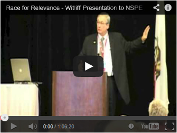 Race for Relevance - Witliff Presentation to NSPE